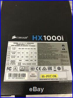 Corsair HXi Series Hx1000i 1000 Watt Fully Modular Power Supply 80 Plus Platinum