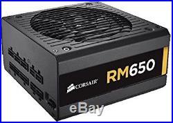 Corsair RM Series, RM650, 650 Watt (650W), Fully Modular Power Supply, 80+ Gold