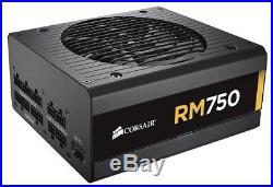 Corsair RM Series, RM750, 750 Watt 750W, Fully Modular Power Supply, 80+ Gold