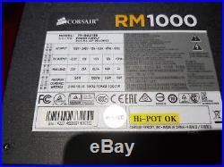 Corsair RM1000 1000w Gold Fully Modular Silent PSU Power Supply