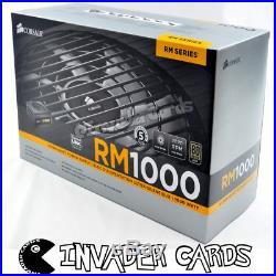 Corsair RM1000 80 PLUS Gold 1000W PSU CP-9020062-EU1000W PC Gaming Power Supply