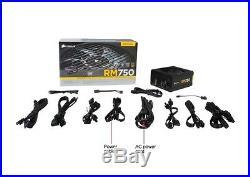 Corsair RM750 custom Cables and original 750W ATX 80 PLUS Gold psu power supply