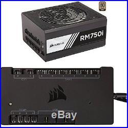 Corsair RMi Series RM750i 750 Watt (750W) Fully Modular Power Supply 80+. NEW