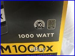 Corsair Rm1000x 1000w Psu 80 Plus Gold Atx12v Fully Modular