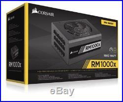 Corsair Rm1000x'80+ Gold' 1000w Modular Power Supply Cp-9020094-uk Psu Fully