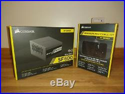 Corsair SF 600 computer power supply with brand new corsair premium SF cable kit