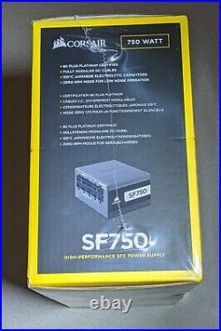 Corsair SF750 750 Watt 80+ Platinum Certified SFX PSU SEALED NIB
