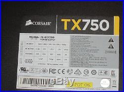 Corsair TX750 750W Power Supply PSU 80 PLUS Bronze 75-001309