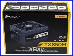 Corsair TX850M 850W 80 Plus Gold Modular Power Supply PSU Gold Certified PSU