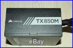 Corsair TX850M TX-M Semi Modular 850W 80 Plus Gold Certified Excellent Condition