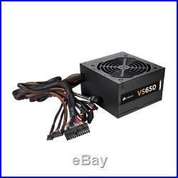 Corsair VS650 650W Active PFC 80 PLUS Certified Power Supply Unit Black