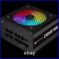 CorsairCX650F RGB Black 80 PLUS Bronze Fully Modular ATX Power Supply CP-9020217