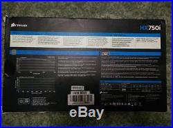 HXi Series HX750i ATX Power Supply 750W 80 Plus PLATINUM PSU 10 years warranty