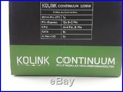 KOLINK Continuum PC-Netzteil 80 Plus Platinum Modular 1200 Watt ATX Netzteil