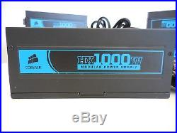 LOT OF 5 CORSAIR HX1000W CMPSU-1000HX Pro Series 80 Plus Certified