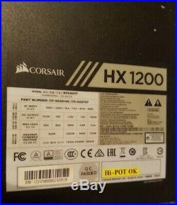 Like New Corsair Hx1200 Psu 80plus Platinum Fully Modular Power Supply
