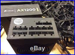 Lot of 5 Corsair AX1200 Gold 1200 Watt Modular Power Supplies ATX 80 Plus