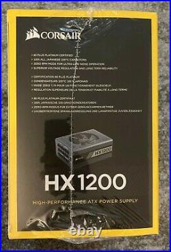 NEW Corsair HX Series HX1200 1200 Watt 80 PLUS Platinum Certified Fully Modular