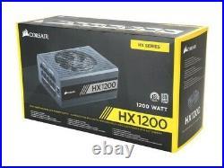 NEW Corsair HX1200 80+ PLATINUM Certified 1200W Fully Modular Power Supply Unit