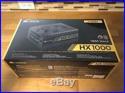 -NEW UNOPENED- Corsair CP-9020139-NA HX1000 1000W 80 Plus Platinum Power Supply