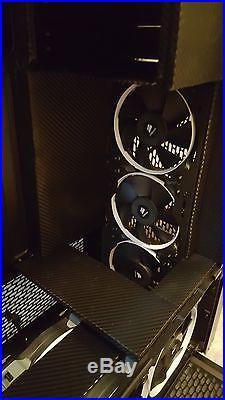 New Corsair 900d Carbon Fiber with 2 EKWB water cooling radiators+17 fans