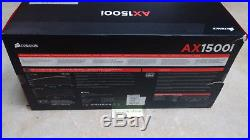 New Corsair AX1500i digital ATX power supply Titanium 80+ 1500W, Fast Shipping