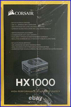 New Corsair HX-1000 1000W 80 Plus Platinum Fully Modular Power Supply