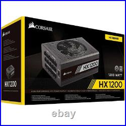 New Corsair HX Series, HX1200, 1200 Watt, Fully Modular Power Supply, 80+ Plat