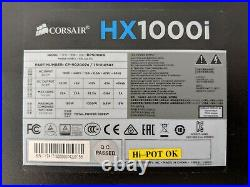 New Corsair HXi Series Hx1000i 1000 Watt Fully Modular Power Supply unit psu