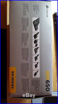 New Corsair RM650 PSU modular & GOLD level efficiency