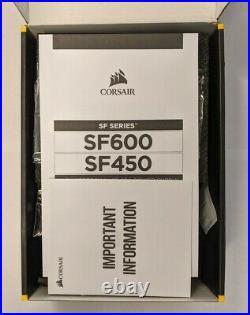 Open Box! Corsair SF600 High-performance SFX Power Supply 80 Plus Platinum