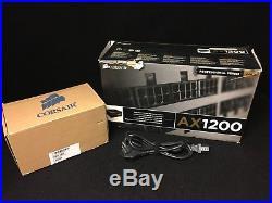 PC Netzteil Corsair AX 1200 mit 1200 Watt Gold incl Kabelsatz Sleeve Schwarz