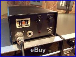 TEN TEC CORSAIR 560 with 260 Power Supply, Astatic D104 and 234 Speech Processor